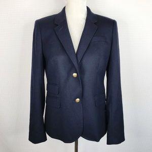 J. Crew Schoolboy Blazer Jacket Sz 8 Navy Blue